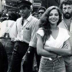 Орнелла Мути и Адриано Челентано (черно-белая ретро фотография)