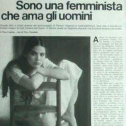 'Я феминистка, которая любит мужчин', - Орнелла Мути