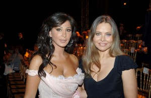 Lebanese singer Elissa and Italian actress Ornella Muti