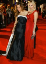 Naike Rivelli and Ornella Muti pose at the UNESCO Charity