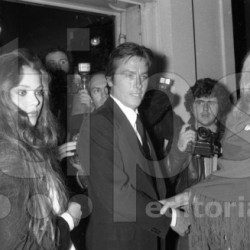 Ornella Muti, Alain Delon, Mireille Darc at venitian ball organized by KarlLagerfeld on october 26, 1978 at Le Palace in Paris