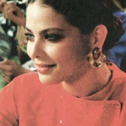 Ornella Muti in red