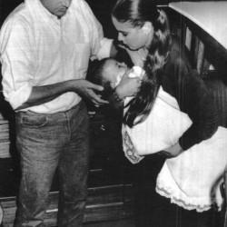 30 августа 1988 - Орнелла Мути с сыном и мужем на кинофестивале в Венеции