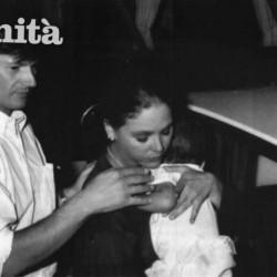 Федерико Факкинетти и Орнелла Мути с их сыном Андреа - кинофестиваль в Венеции - 30 августа 1988