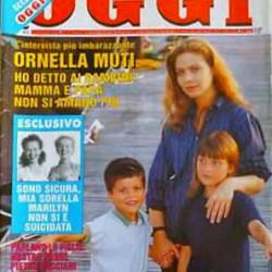 OGGI #13 - 1994 - Орнелла Мути со своими детьми
