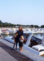 Орнелла и её дети - Каролина и Андреа