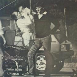 Орнелла Мути, её муж Федерико и их дочь Каролина