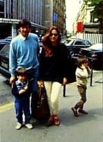 Орнелла Мути и Федерико Факкинетти с детьми