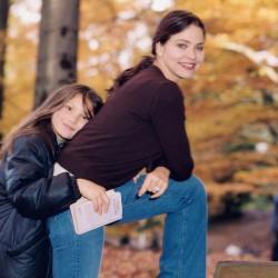 Орнелла Мути с дочерью Каролиной 1996