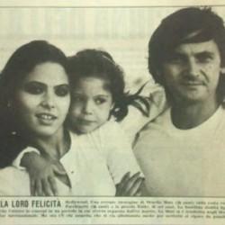 Орнелла Мути с дочерью Найке и мужем Федерико