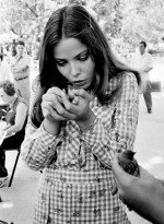 Ornella Muti with a sparrow