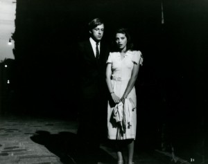 Черно-белое фото с Орнеллой Мути и Стефано Патрици