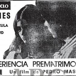 Черно-белый постер с Орнеллой Мути и Алессио Орано