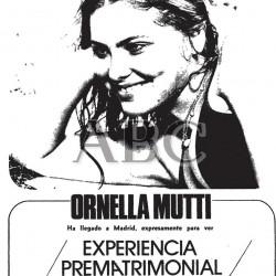 Ornella Muti - EXPERIENCIA PREMATRIMONIAL