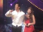 Орнелла Мути с Фабрисом Керерве на сцене каннского дворца