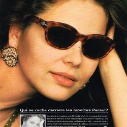 Реклама очков PERSOL - 1990 год