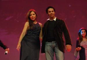 Ornella Muti and Tunisian-French actor Sami Bouajila