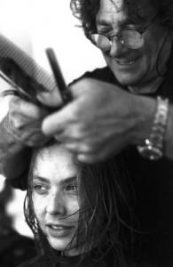 Орнелла Мути и парикмахер Альдо Коппола