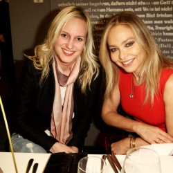 Bild reporter Dora Varro and Ornella Muti attend the 'Lambertz Monday Night'