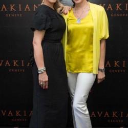 Ornella Muti and Corinne Avakian