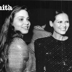 Орнелла Мути и Клаудия Кардинале на показе Джорджио Армани (1986 год)