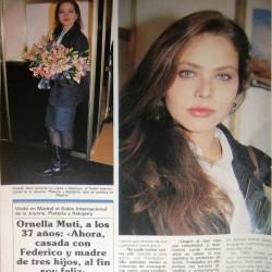 SEMANA февраль 1992 - Орнелла Мути празднует 37-летие