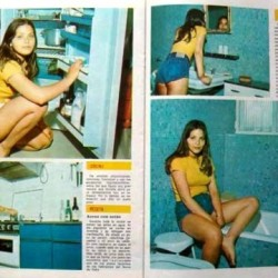 Фото из журнала. Молодая Орнелла Мути