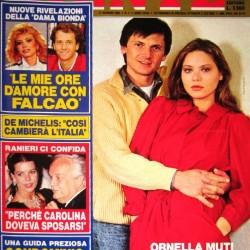 GENTE 1984 - Орнелла Мути со своим мужем Федерико