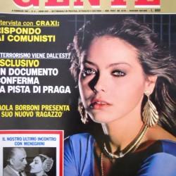 GENTE #6 1981 Ornella Muti - Paola Borboni - Ronald Reagan - Maria Callas