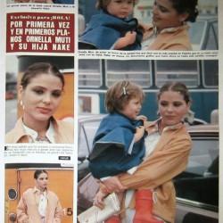 HOLA 1980 - Орнелла Мути и её дочь Найке Ривелли