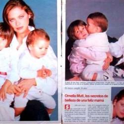 Орнелла Мути со своими детьми